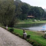 view of the lake and the spa