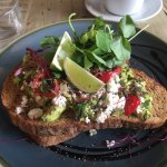 Amazing smashed avocado!