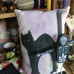 Hand painted festive pillows