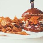 Kimchi Reuben Burger