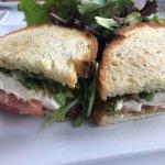 Olive Oil Caprese Sandwich with Avocado - very good!
