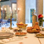 Special Tagine with a selection of Moroccan Salades served at Palais Houyam
