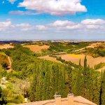 View of the hills around Villa Armena