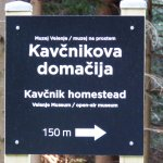 Kavčnikova domačija, path to the museum house