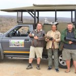 With Bekker Brothers of Private Kruger Safaris in Kruger National Park during coffee break.