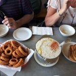 Clam Chowder and Onion Rings