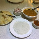 Biryani, appam, fish curry