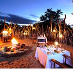 Outdoor dining under African skies in the Kruger National Park