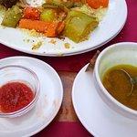 cous cous de cordero salsas