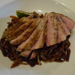 Duck with stir-fried noodles