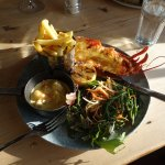 Lobster Thermidor with King Prawn and Queen Scallops and samphire salad