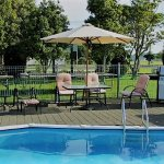 Outdoor swimming pool and BBQ area