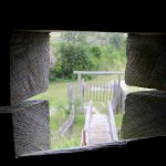 Looking out one of the musket holes