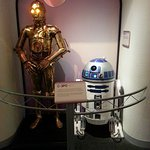 C3PO & R2D2 in the robot exhibit