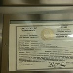 Out of date elevator compliance certificate