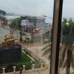 Chatrapati Shivaji statue infront of Juhu Beach-from room