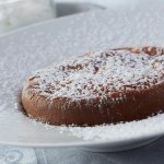 Warm Baked Almond Scented Clafoutis with Crème Chantilly; Preserved Cherries s Chocolate & Prese