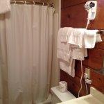 single queen room shower