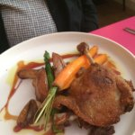 Main tender duck leg cooked in it's own juices