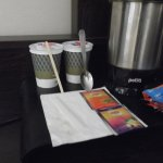 The Mercure hotel chain thinks these paper cups - just 2- are good enough for guests.