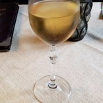 cooling apertif: Reisling wine with a touch of peach liqueur