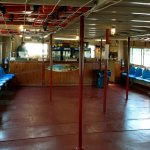 snack bar & downstairs on the boat