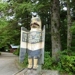 One of the totem poles before entering the park.