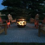 The Westway is pleased to provide guests with a relaxing patio with fire pit and adirondack chai