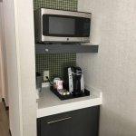 Small fridge, Kuerig and Microwave