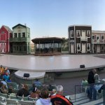 Panaramic view of the stage at the Medora Musical