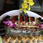 Beautiful plating. Delicious sushi