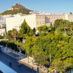 Amalia Hotel Athens, Room 503, Balcony View, August 2017