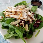 Grilled chicken salad. It was delicious!