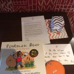 A book kindly left for our 4 year old son and personalised welcome note