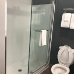 I actually LOVED this shower door, but the water pressure is non-existent