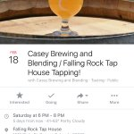 Check their social media for great tappings and events!