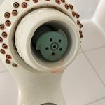 Shower head needs to be replaced.