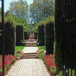 entry to pathway into a formal garden