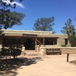 The historic visitor center at Torrey Pines (bathrooms are not in the lodge but across the stree