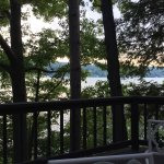 View from the deck. At Owasco Lake.
