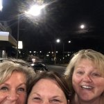 Trying to get the full moon in the pic from outside of Alex's pizza
