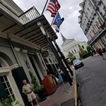 Covered front arrival area, right in the heart of the French Quarter