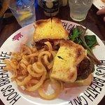 Yummy steak sandwich