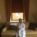 Relaxing with my Omni robe.