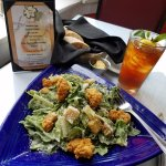 I had a Caesar Salad with fried oysters, and fresh bread, Delish!