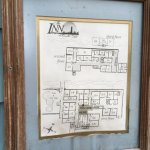 Room map in dirty frame! Note that many rooms look into interior