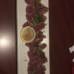 the beef sashimi stole the show very tasty!