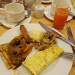 Breakfast from the buffet in the morning
