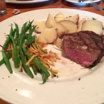 Filet with Longs Peak potatoes.