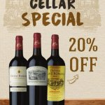 Come & grab a few bottles during this month and get 20% discount.